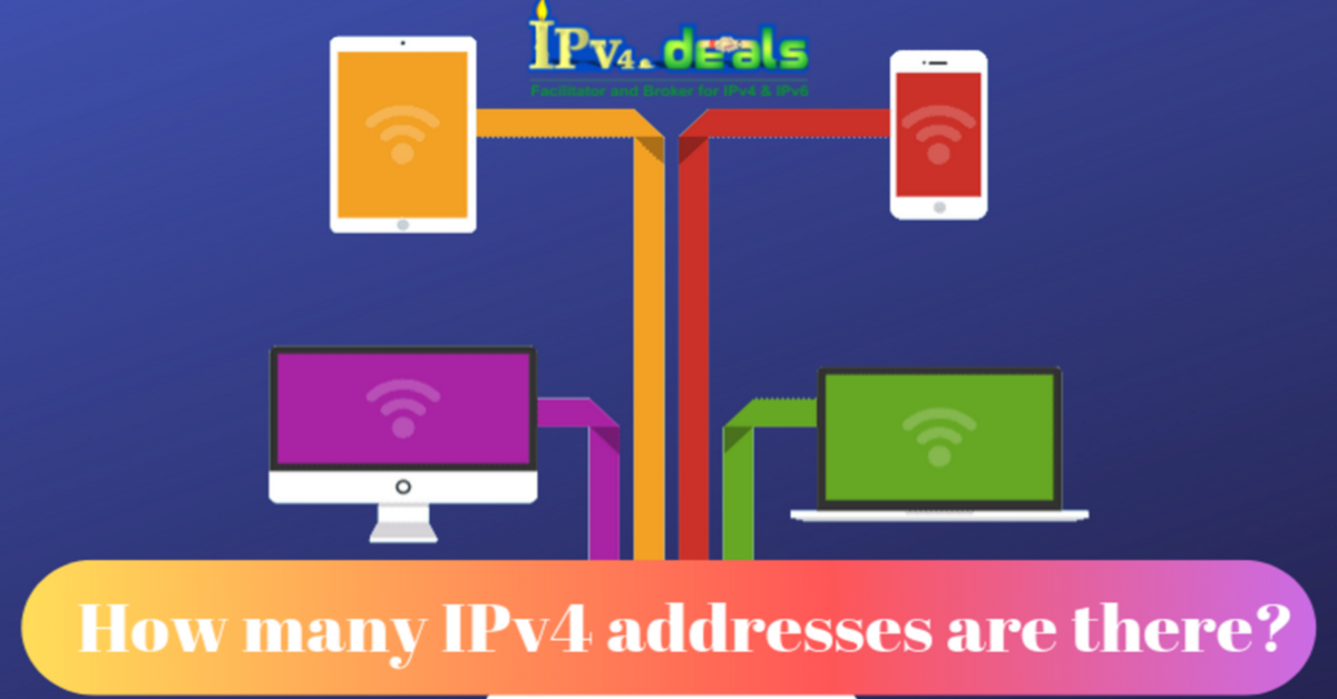 How many IPv4 addresses are there?