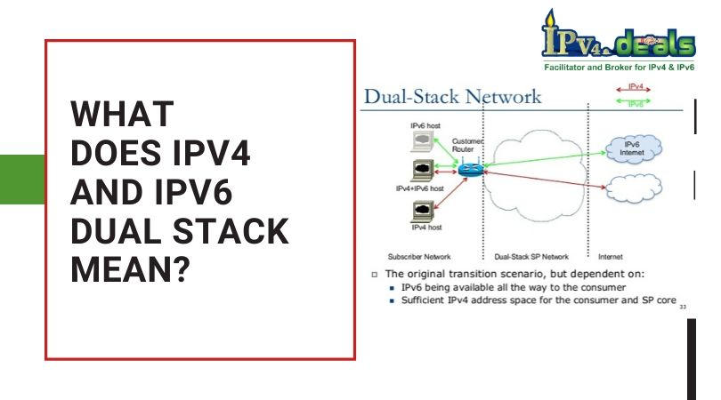 What does IPv4 and IPv6 dual stack mean?