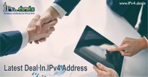 latest deal in ipv4