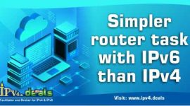 Simpler router task with IPv6 than IPv4
