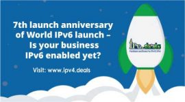 7th launch anniversary of World IPv6 launch – Is your business IPv6 enabled yet?