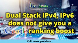 Dual Stack IPv4, IPv6 does not give you a Google ranking boost