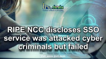RIPE NCC discloses SSO service was attacked cyber criminals but failed